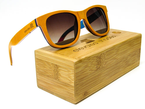 Elevated Shades - Italy Orange - Polarized Black Lenses