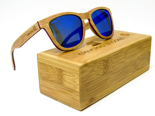 Elevated Shades - On a Boat - Polarized Blue Lenses