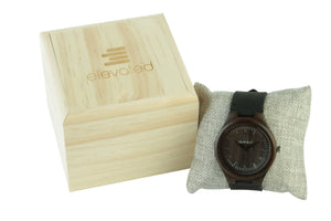 MAMBA-BLACK SANDALWOOD AND GENUINE LEATHER BAND