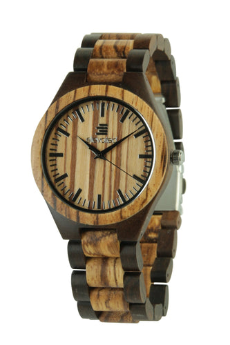 LIGHT JAVA~ Zebra & Black Sandalwood WATCH BY ELEVATED SHADES