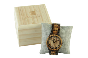 WOOD BOX FOR DARK JAVA BY ELEVATED SHADES  WOOD WATCHES