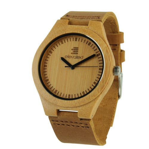 ABC bamboo watch by elevated shades