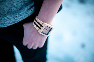 401-TO-99~ORIGINAL GRAIN BAMBOO AND BLACK SANDALWOOD WATCH