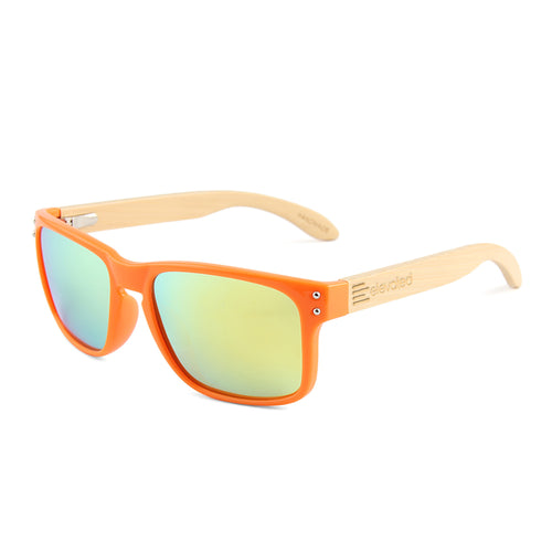 Elevated Shades - Orange Steel - Polarized Orange Lenses