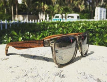 Elevated Shades - Reflective Roots - Bamboo / Polarized