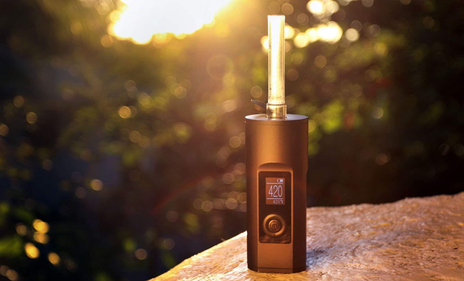 arizer solo 2 at sunset