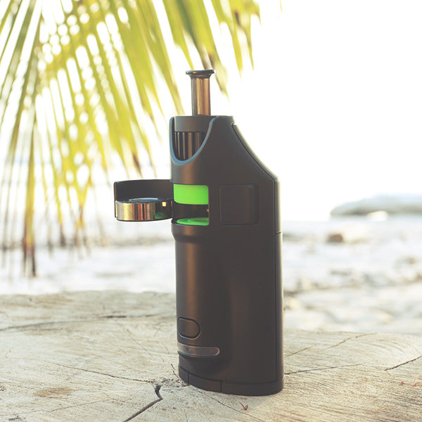 Ghost Vaporizer black on sand at beach