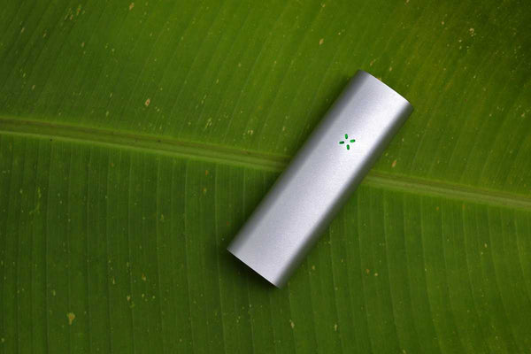 PAX 3 Vaporizer silver on leaf