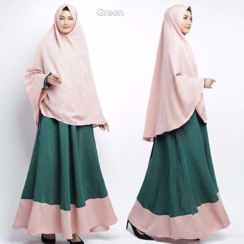 Calea Abaya Long Sleeve Crepe Maxi Dress Green