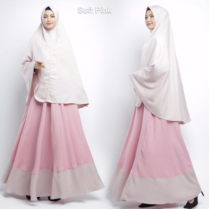 Calea Abaya Long Sleeve Crepe Maxi Dress Soft Pink