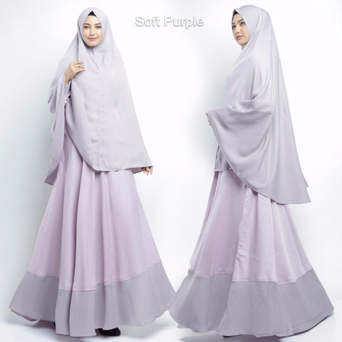 Calea Abaya Long Sleeve Crepe Maxi Dress Soft Purple