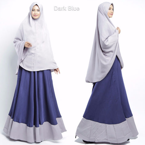 Calea Abaya Long Sleeve Crepe Maxi Dress Navy