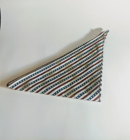 Red, White & Blue Stripes Dog Bandana
