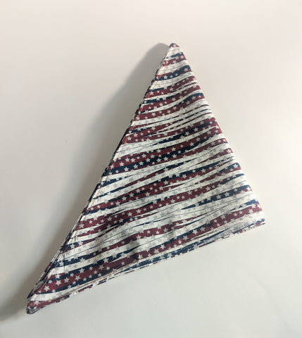Red, White & Blue Whisps Dog Bandana