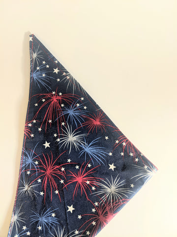 Firework Reversible Dog Bandana