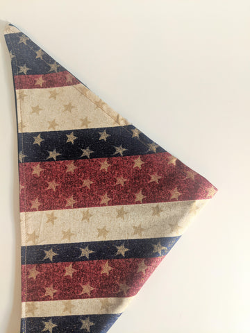 Patriotic Star Reversible Dog Bandana