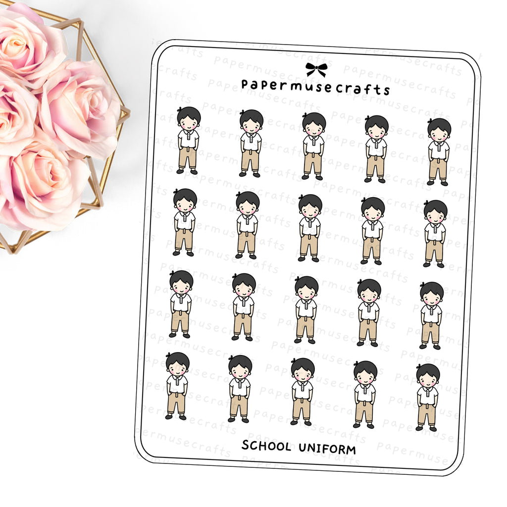 Children | Character Stickers | School Uniform