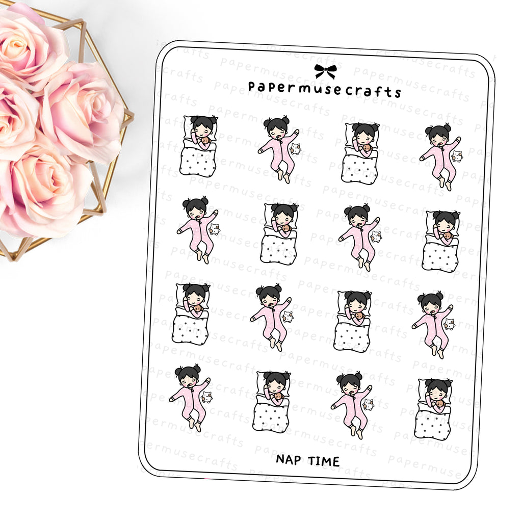 Children | Character Stickers | Nap Time