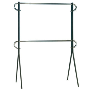 2 Tier Black & Chrome Clothing Rack