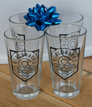 Pint Glass(es) Official CCBHOF with Logo