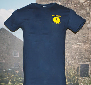"McClellan's Navy Blue Shirt with ""Firkin A"" on back"