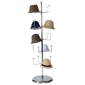 Chrome Revolving Hat Rack