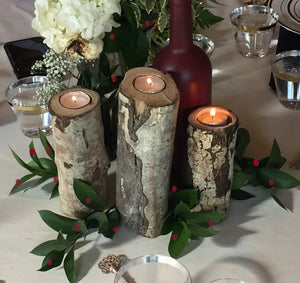 Real Colorado Wood Candle holders from the Colorado Craft Beer Hall of Fame