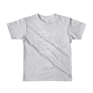 Scratch Scratch Scratch - Kids Short Sleeve T-Shirt
