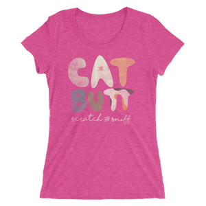 Cat Butt Scratch and Sniff - Ladies' Short Sleeve T-Shirt