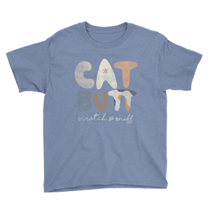 Cat Butt Scratch and Sniff - Youth Short Sleeve T-Shirt