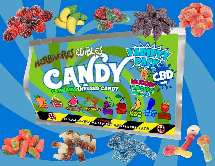 Herbivores Gummies Variety Pack - 225mg CBD Only