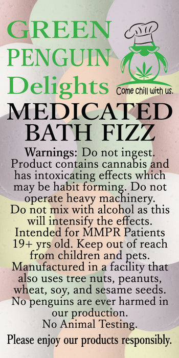 Green Penguin Delights Medicated Bath Fizz – Pure & Natural