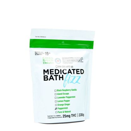 Green Penguin Delights Medicated Bath Fizz – Peppermint