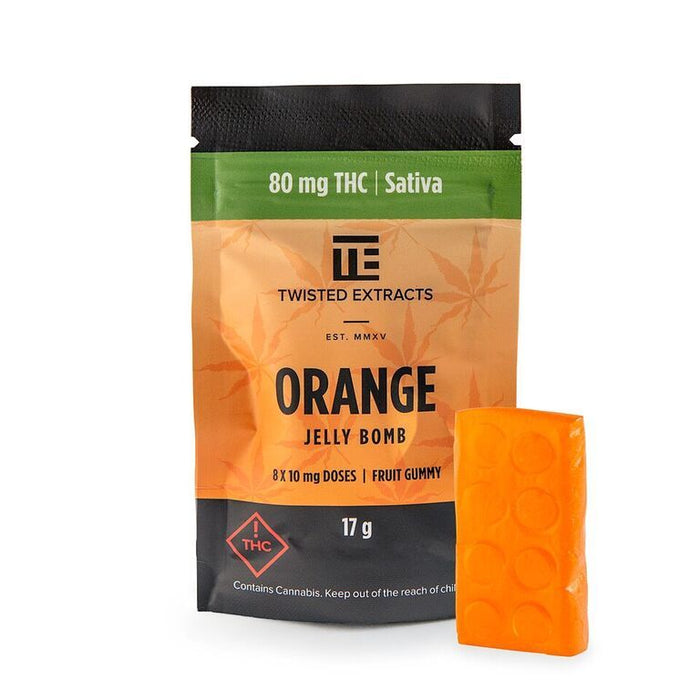 Twisted Extracts Orange Jelly Bomb – Sativa (80mg)