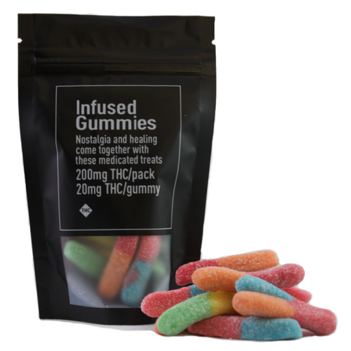 Infused Worm Gummies – 200mg THC