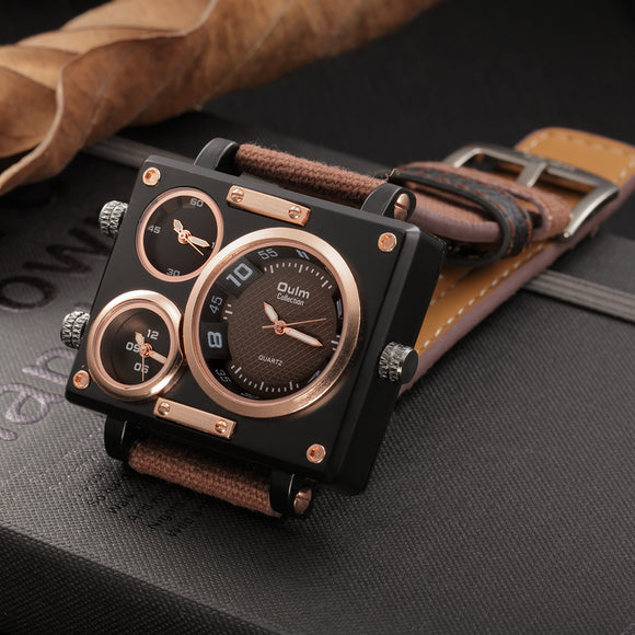 Oulm Luxury Quartz-Watch Clock