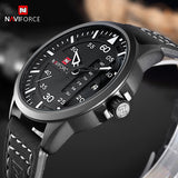 NAVIFORCE Fashion Casual Luxury Leather Business Quartz-Watch