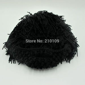Mr.Kooky Wig Beard Beanie