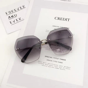 SHAUNA Fashion Rimless Square Sunglasses [Hot Sell] [Trending]