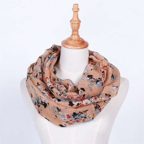 Hot Sale New Fashion Warm Women Flower Loop Scarf