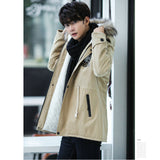 Autumn Long Parka Casual Slim Fit Hood