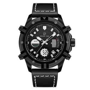 GOLDENHOUR Fashion Luxury  Waterproof Military Sports Watches
