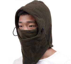 HONG WILD Winter warm Fleece beanies hats for men skull bandana neck warmer balaclava face mask Wargame Special Forces Mask