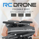 Elfie Drone MiNi Foldable Selfie Drone with HD Camera Drones WiFi FPV Quadcopter RC Helicopter One Key Return Dron Vs E56 H47 X5