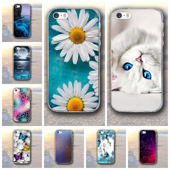 Patinting Case for Apple iPhone 5 5S SE iPhone5 Soft TPU Case
