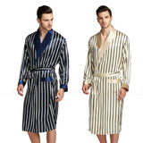 Mens Silk Satin Pajamas