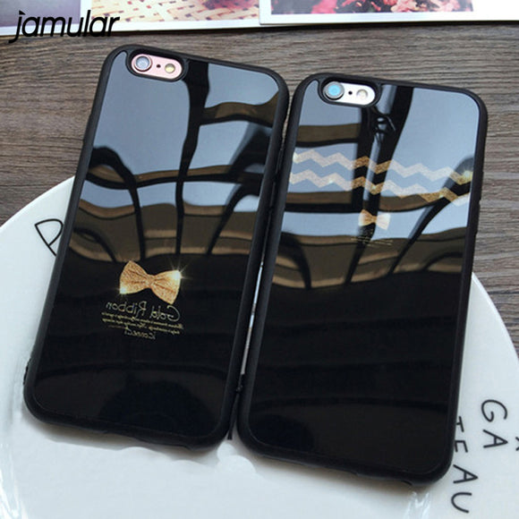JAMULAR Bow Silicone Mirror Case For iPhone X 7