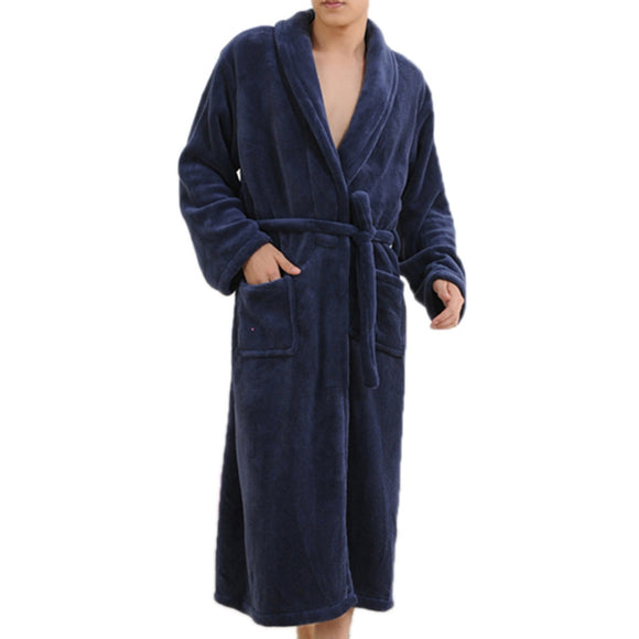 Thicken Coral Flannel Bathrobe
