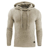Sleeve Solid Color Hooded Sweatshirt