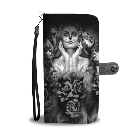 DAY OF THE DEAD PHONE COVER WALLET
